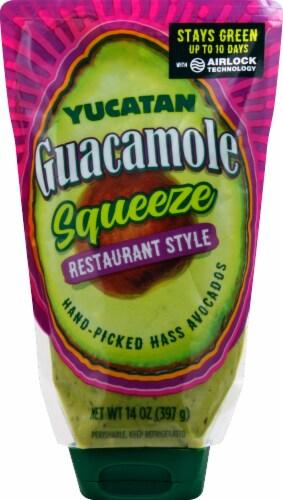 Yucatan Restaurant Style Squeeze Guacamole Perspective: front