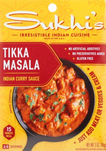 Sukhi's Tikka Masala Curry Sauce Perspective: front