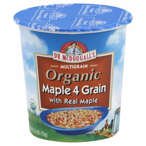 Dr McDougall's  Organic Maple Oatmeal Perspective: front
