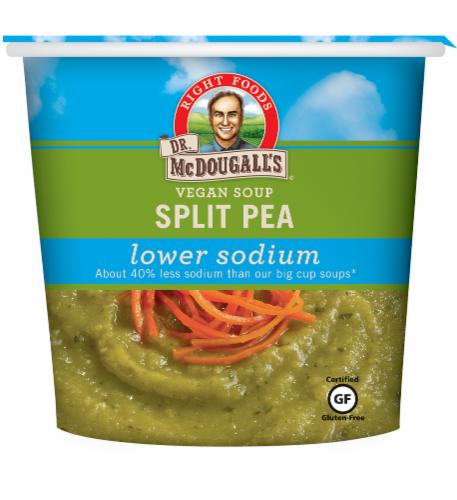 Dr. McDougall's Vegan Low-Sodium Split Pea Soup Perspective: front