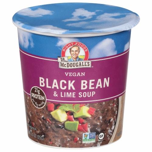 Dr. McDougall's Vegan Black Bean & Lime Soup Perspective: front