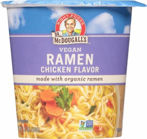 Dr. McDougall's Vegan Chicken Ramen Perspective: front