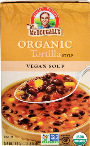 Dr. McDougall's  Organic Soup Gluten Free   Tortilla Style Perspective: front