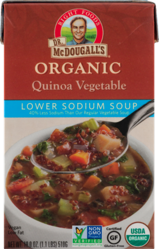 Dr. McDougall's Lower Sodium Organic Quinoa Vegetable Soup Perspective: front