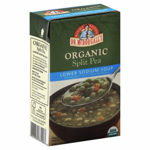 Dr McDougall's Organic Low Sodium Split Pea Soup Perspective: front