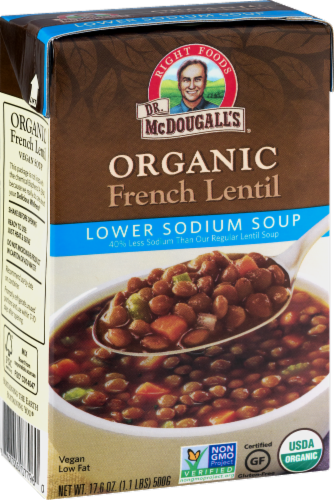Dr. Mcdougall's Organic Lower Sodium French Lentil Soup Perspective: front