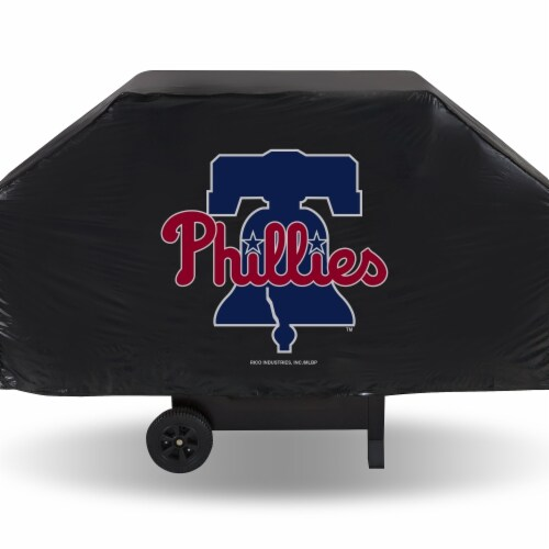 Rico Industries 6734554281 Philadelphia Phillies Grill Economy Cover, Black Perspective: front