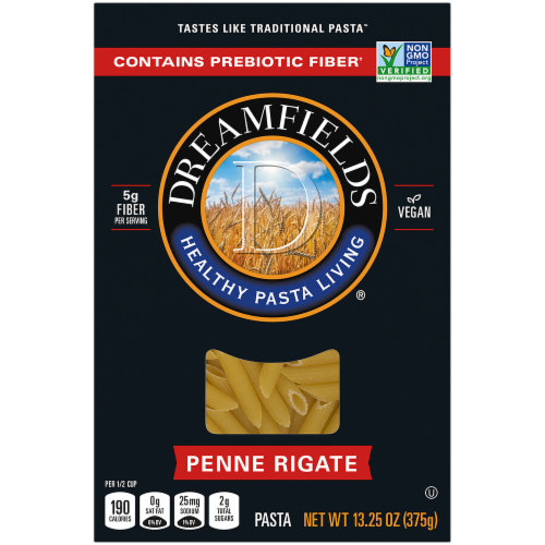 Dreamfields Penne Rigate Pasta Perspective: front