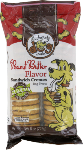 Exclusively Dog Peanut Butter Sandwich Créme Cookies Perspective: front
