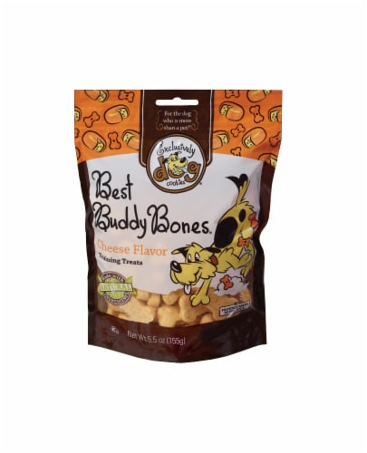 Exclusively Dog Best Buddy Bones Cheese Flavor Dog Treats Perspective: front
