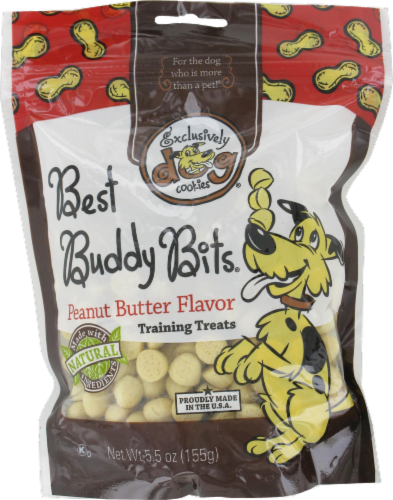 Exclusively Dog Cookies Peanut Butter Best Buddy Bits Perspective: front