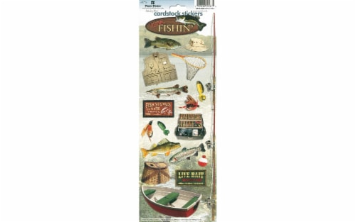 Paper House Sticker Cardstock Gone Fishin' Perspective: front