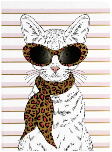 Paper House Life Organized Fashionable Cat Soft Cover Journal Perspective: front