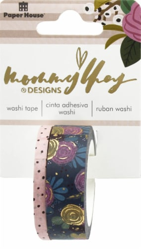 Paper House Patterned Washi Tape - Blush Perspective: front