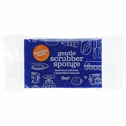 Natural Value Gentle Scrubber Sponge / 24-ct. pack Perspective: front