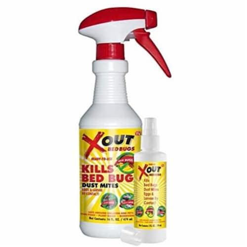 FabriClear/ XOUT Bed Bug Spray,  16 oz. w/ Bonus Travel Spray 2 oz. Perspective: front