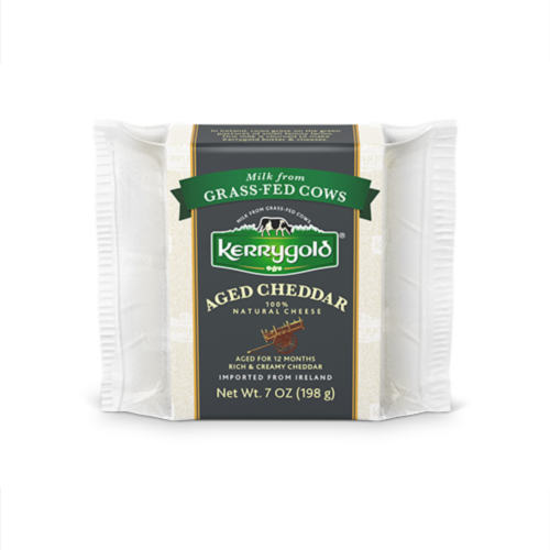 Kerrygold® Aged Irish Cheddar Natural Cheese Perspective: front
