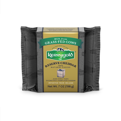 Kerrygold Reserve Cheddar Natural Cheese Perspective: front