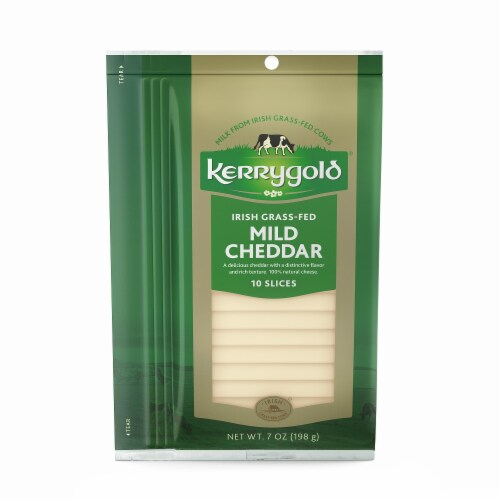 Kerrygold Mild Cheddar Cheese Slices Perspective: front