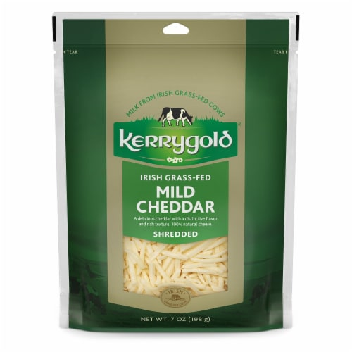 Kerrygold Shredded Mild Cheddar Cheese Perspective: front
