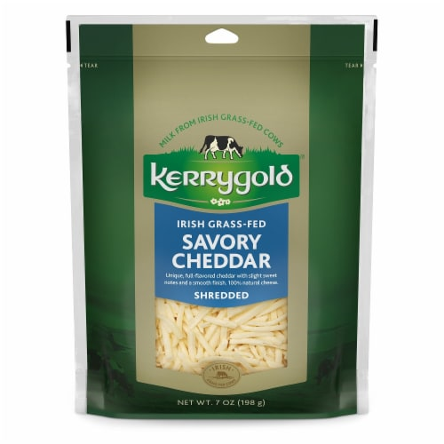 Kerrygold Shredded Savory Cheddar Cheese Perspective: front