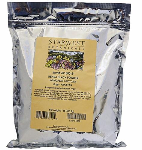 Starwest Botanicals Henna Black Powder Perspective: front