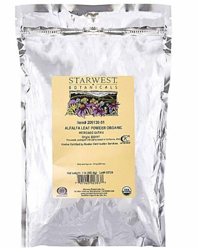 Starwest Botanicals  Organic Alfalfa Leaf Powder Perspective: front
