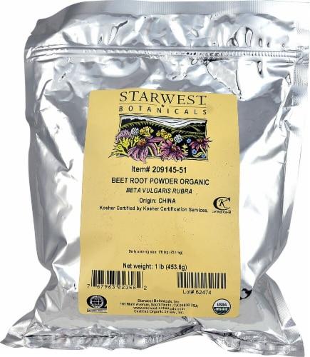 Starwest Botanicals  Organic Beet  Root Powder Perspective: front