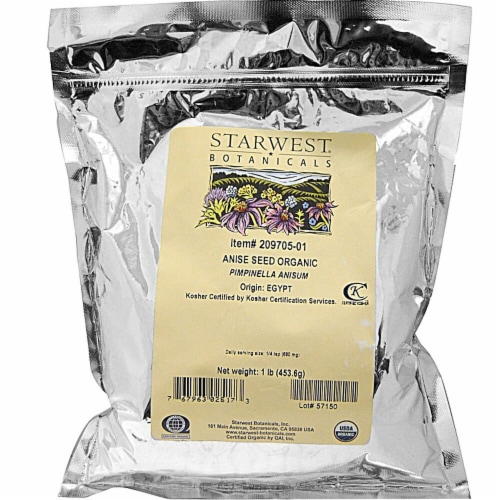Starwest Botanicals  Organic Anise Seed Perspective: front