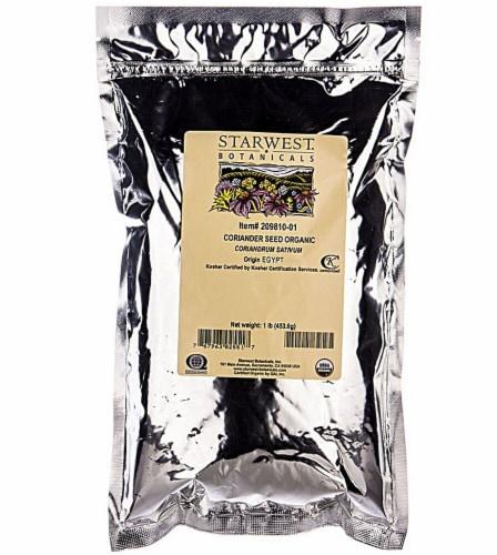 Starwest Botanicals  Organic Coriander Seed Perspective: front