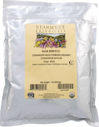 Starwest Botanicals  Organic Coriander Seed Powder Perspective: front