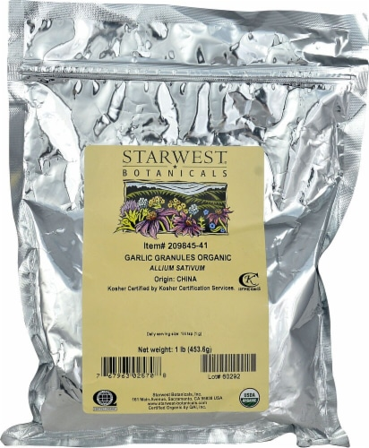 Starwest Botanicals  Organic Garlic Granules Perspective: front