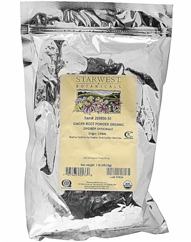 Starwest Botanicals  Organic Ginger Root Powder Perspective: front
