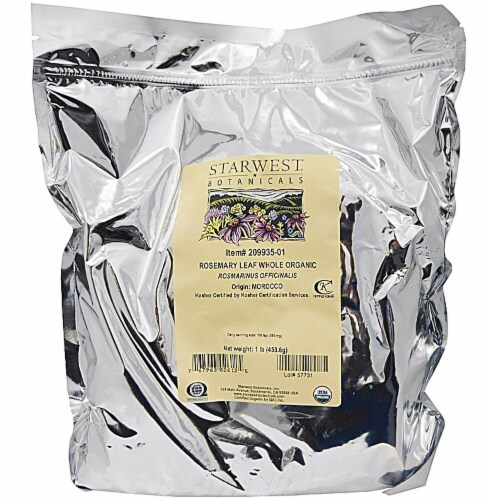 Starwest Botanicals  Organic Rosemary Leaf Whole Perspective: front