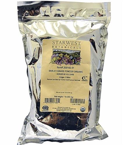 Starwest Botanicals  Organic Barley Grass Powder Perspective: front