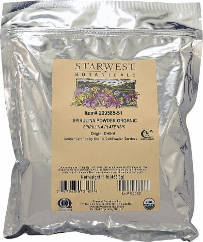 Starwest Botanicals  Organic Spirulina Powder Perspective: front