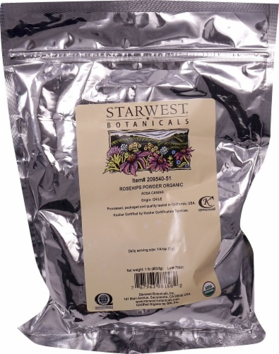 Starwest Botanicals  Organic Rosehips Powder Perspective: front