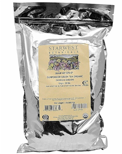 Starwest Botanicals  Organic Gunpowder Green Tea Perspective: front