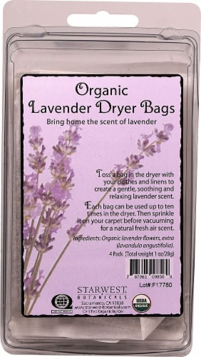 Starwest Botanicals  Organic Dryer Bags Lavender Perspective: front