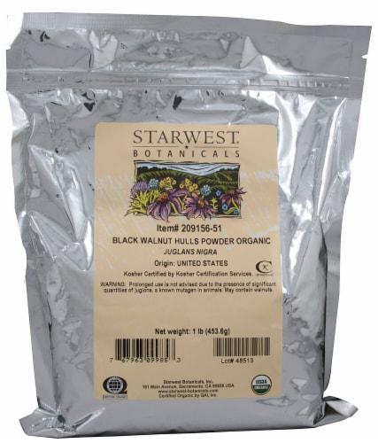 Starwest Botanicals  Organic Black Walnut Hulls Powder Perspective: front