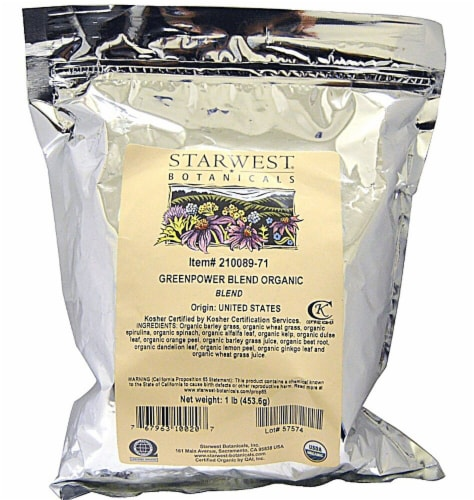 Starwest Botanicals  Organic Green Power Blend Perspective: front