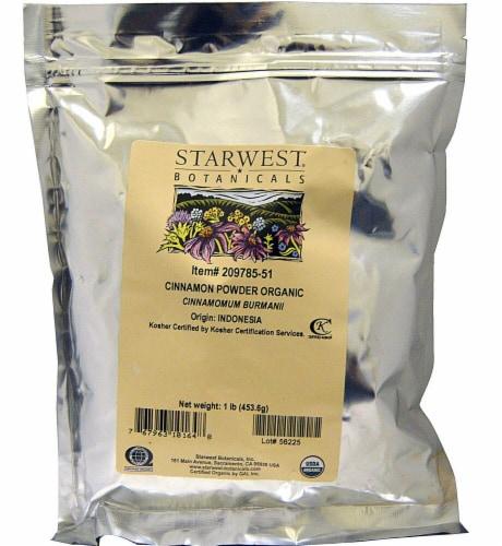 Starwest Botanicals  Organic Cinnamon Powder Perspective: front