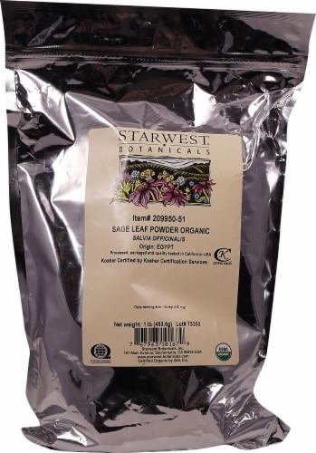 Starwest Botanicals  Organic Sage Leaf Powder Perspective: front