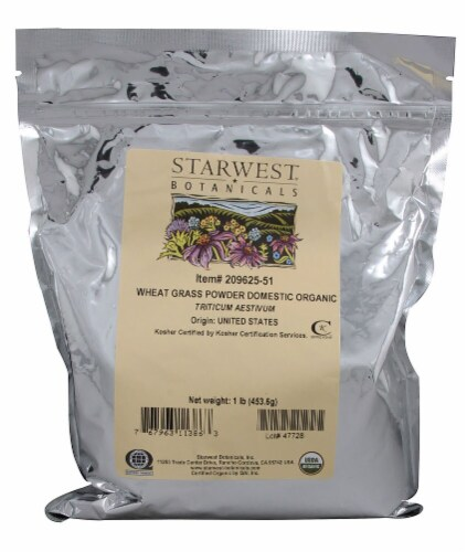 Starwest Botanicals  Organic Wheat Grass Powder Domestic Perspective: front
