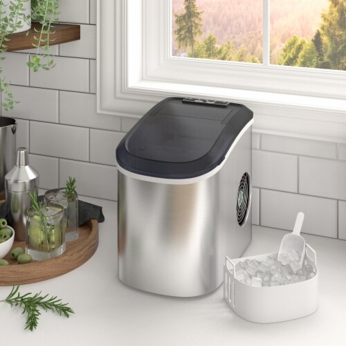 Kumo Countertop Ice Maker Machine - 9 Ice Cubes Ready in 6 Mins - Makes 26 lbs Ice/24h Perspective: front