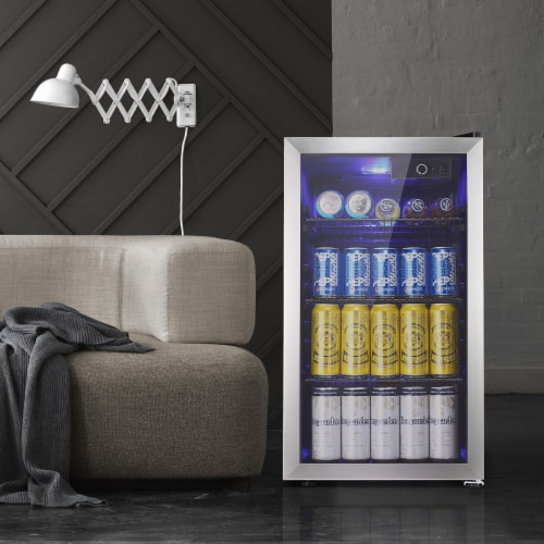 Kumo Beverage refrigerator 90 Can  Mini Fridge freestanding for Home, Office, Bar Perspective: front