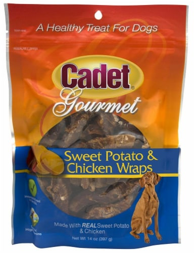 Cadet Gourmet Sweet Potato and Chicken Wraps Dog Treats Perspective: front