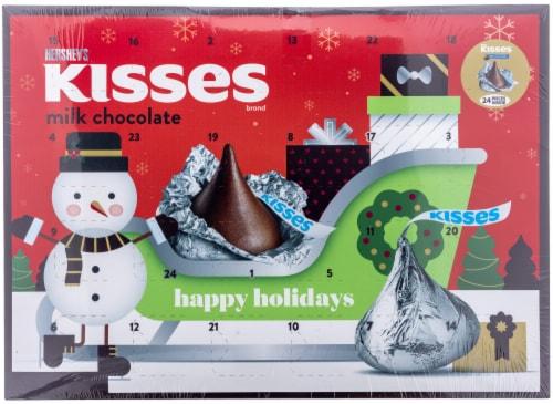 Hershey's Kisses Milk Chocolate Advent Calendar Perspective: front