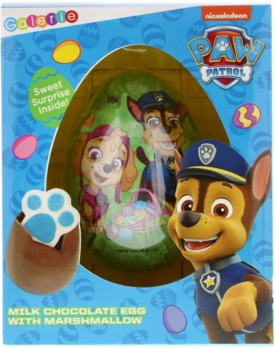 Galerie Paw Patrol Milk Chocolate Egg with Marshmallow Perspective: front