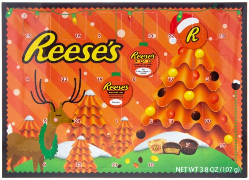 Reese's Lovers Chocolate Advent Calendar Perspective: front